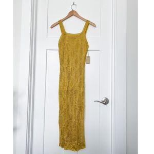 NEW F21 Citron Knit Dress